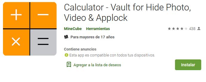 Calculadora Photo Vault - Mejores Aplicaciones Android