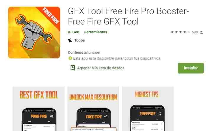 GXF una excelente app para Free Fire