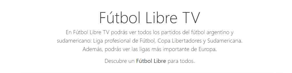 copa libertadores futbol libre tv