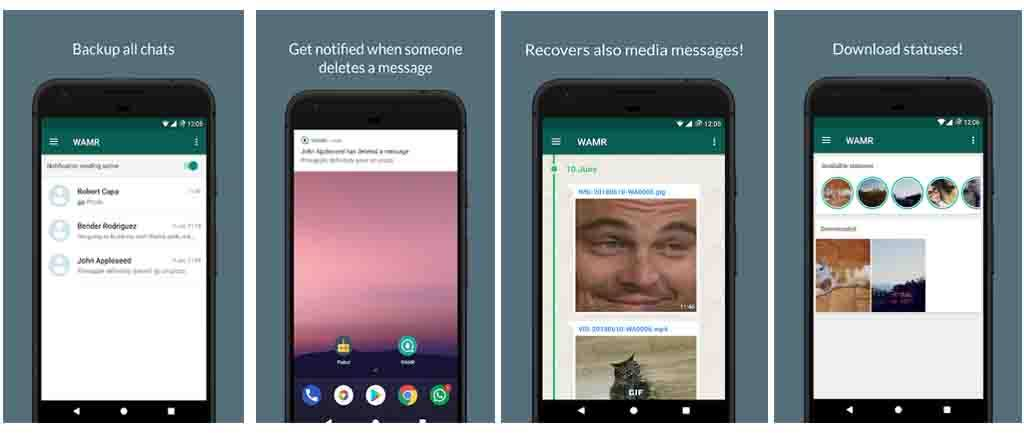 wamr app para recuperar mensajes de whatsapp