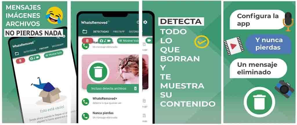 WHATSREMOVED+ recuperar mensajes de whatsaap eliminado