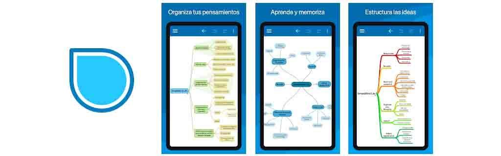 estudiar con SimpleMind mapas conceptuales
